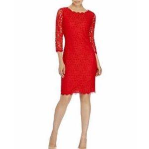Diane Von Furtenberg Poppy Red Lace Brand New Dres
